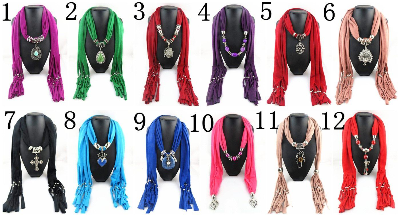 001 Multy Designs Mixed Jewelry Scarf Wholesale