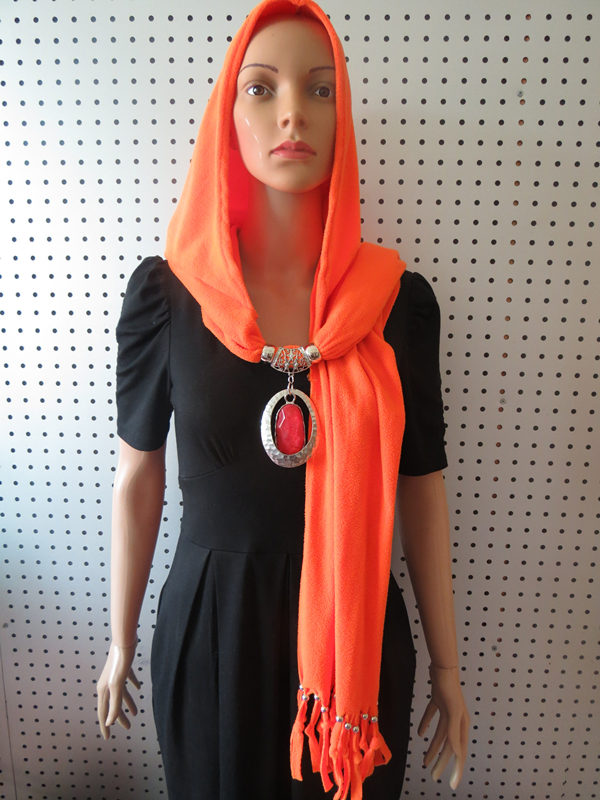 010 Muslim Scarf with jewelry attached