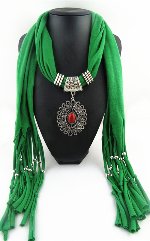013 Alloy RHINESTONE Pendant Scarf For women