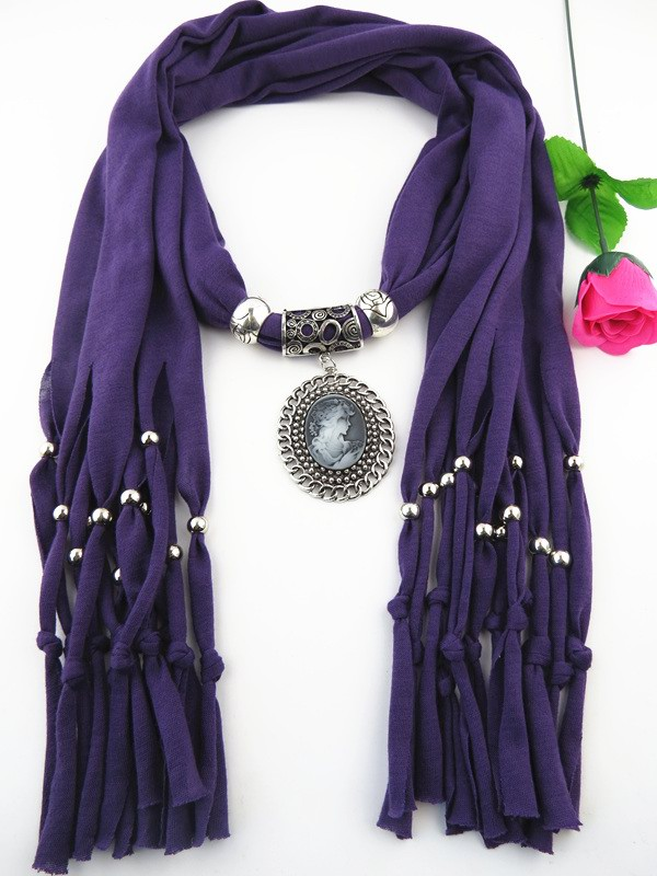 001 Best Designers Jewelry Scarf with Pendant