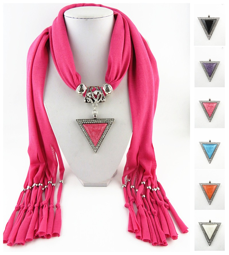 002 Triangle Jewelry Scarf