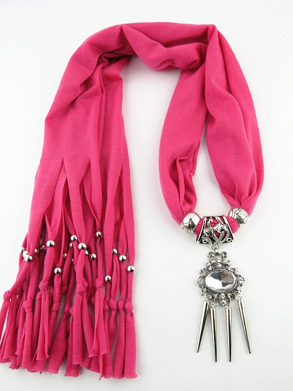 002 New design pendant scarf 2015