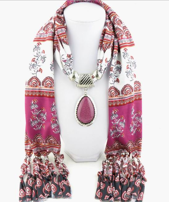 SEO_COMMON_KEYWORDS 001 2017 Purple Scarf with pendant attached