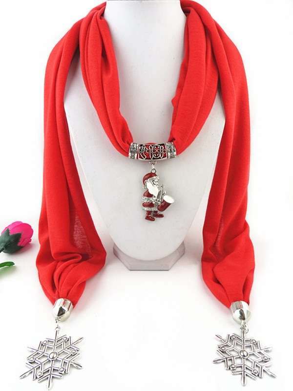 2014 Christmas Pendant Scarf with SANTA attached