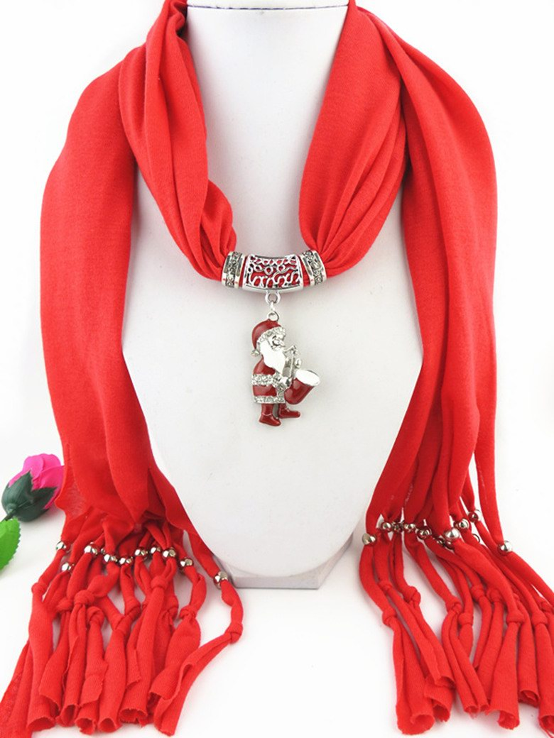 2014 Santa Pendant Scarf For Christmas