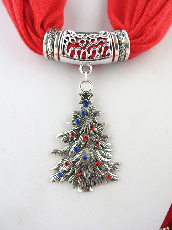 2014 Christmas Tree Pendant Scarf For Women
