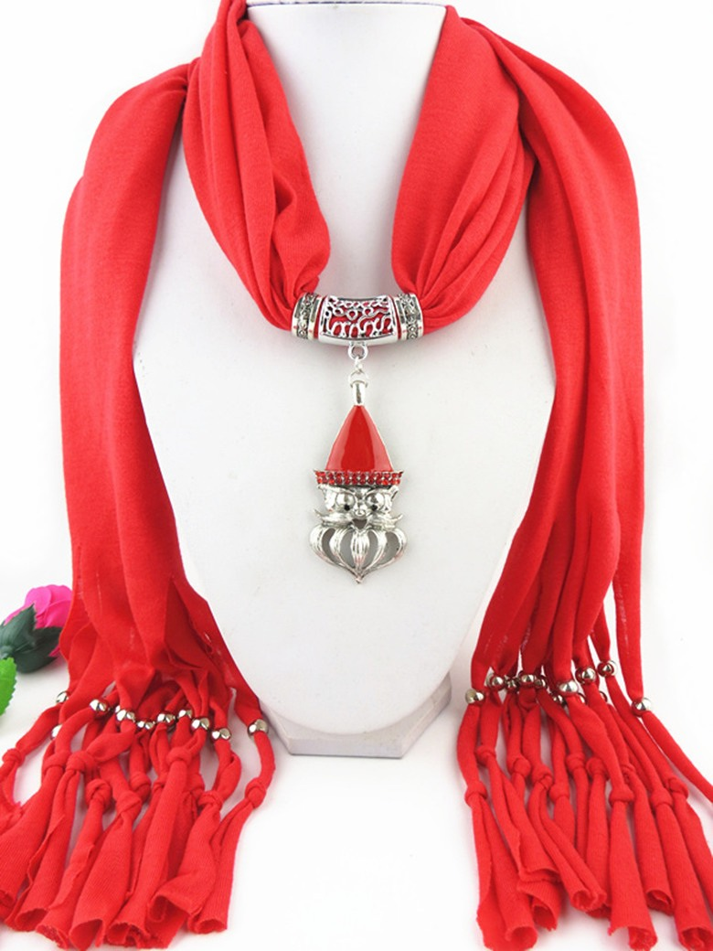2014 Jewelry Scarf with SANTA HEAD SMILE DESIGN