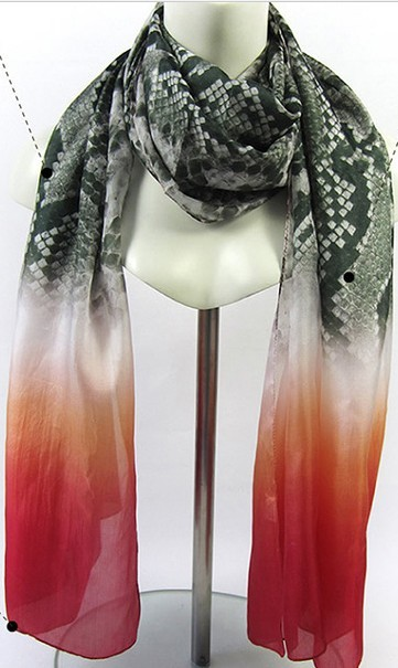 SEO_COMMON_KEYWORDS 100% silk shawl Rectangle high quality scarf snake skin print