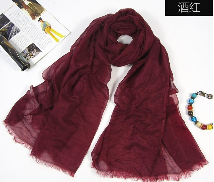 Plain colors silk scarf/ shawl wholesale