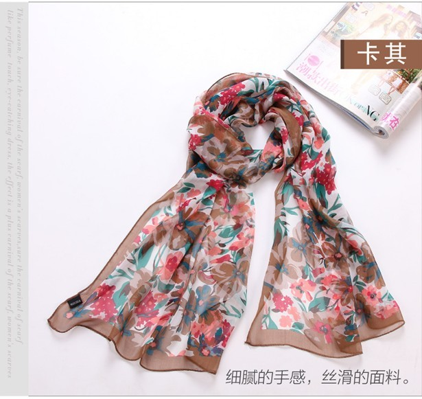 2013 Wholesale Silk Scarf Art Painting flowers