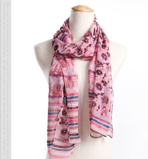 Countryside pattern 100 silk scarves and shawls wholesale