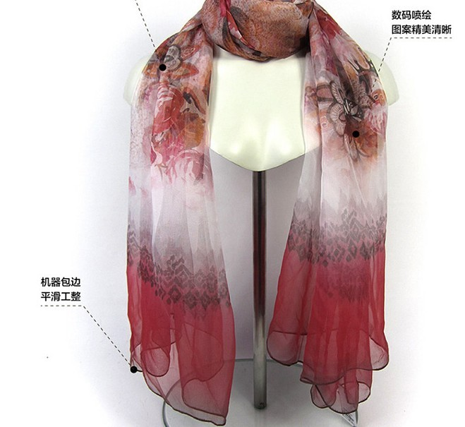 SEO_COMMON_KEYWORDS Long Tendy 100% Silk Neck Scarf and Shawls for Lady