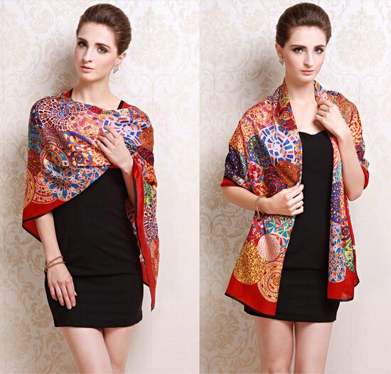 004 Hot selling Silk Scarf New Trendy