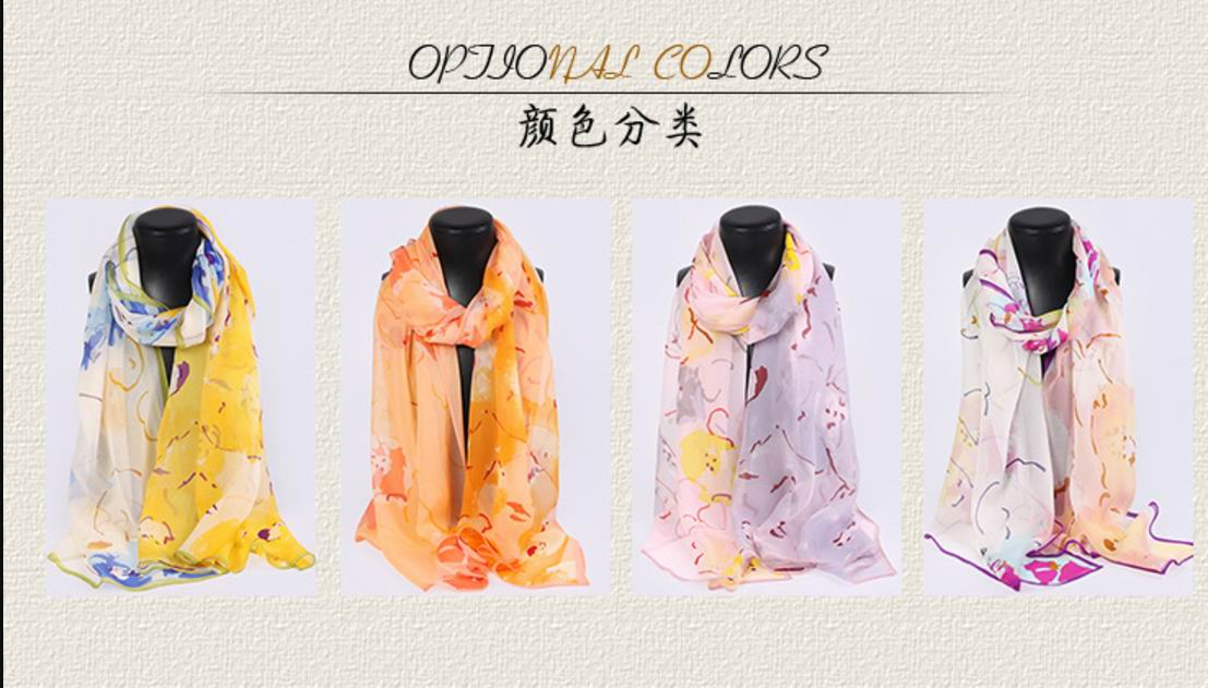 017 2017 New 100% Silk Scarf