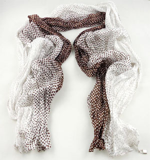 SEO_COMMON_KEYWORDS Spotted fold silk scarf
