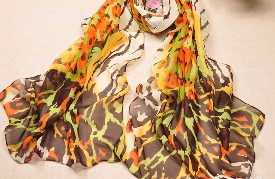 Buy cheap animal print silk scarf for Spring/Autumn
