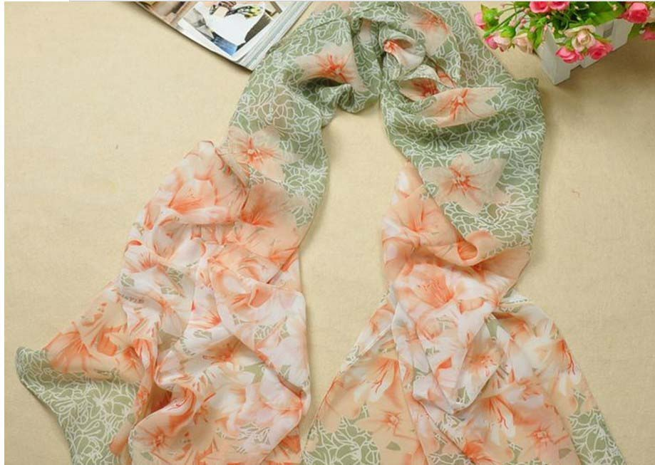 Floral design silk scarf wholesale in United States