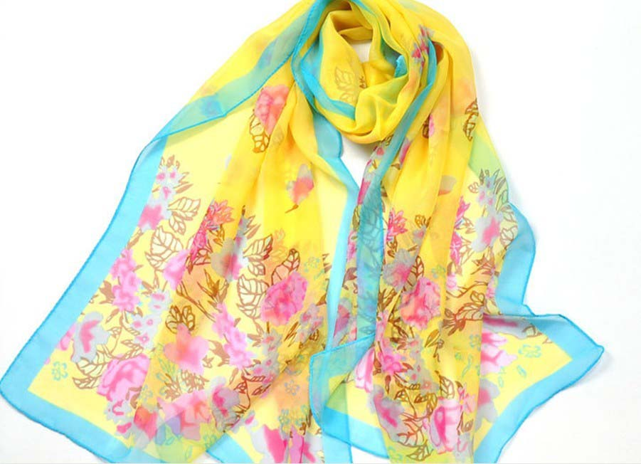 Girl's Fashion Long Soft silk Wrap and scarf wholesale in UK