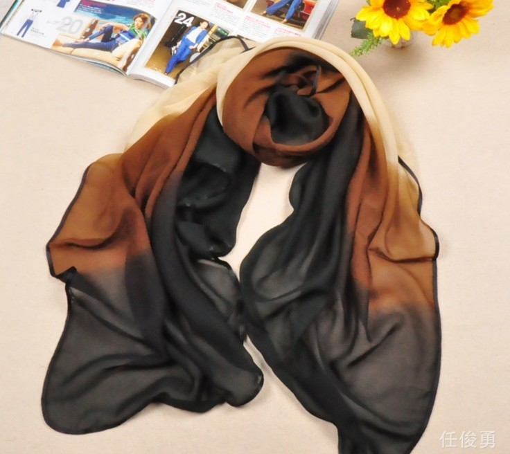 2013 Trend colors silk scarf for lady
