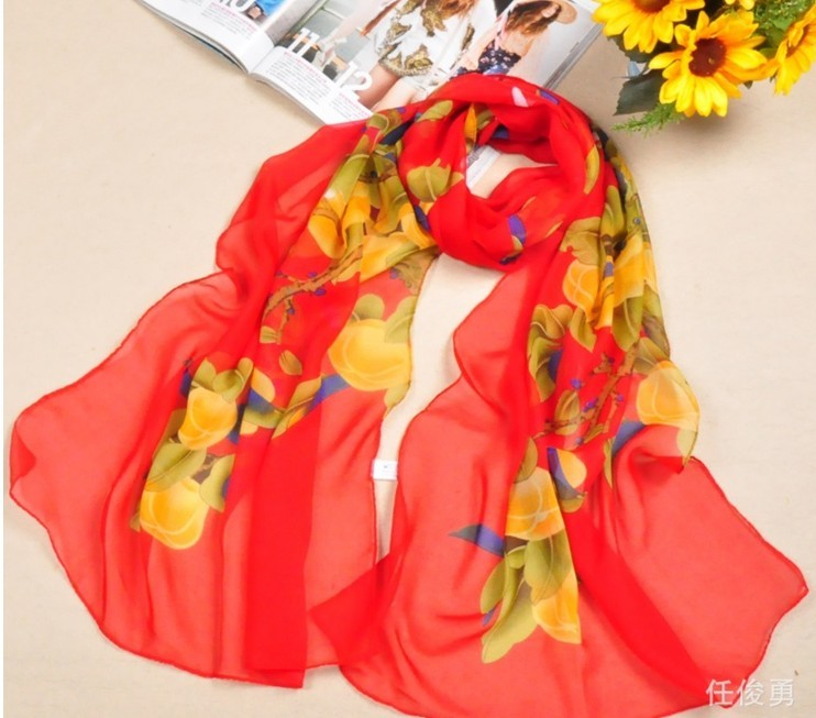 2013 Chinese Painting silk scarfs shawls wholesale