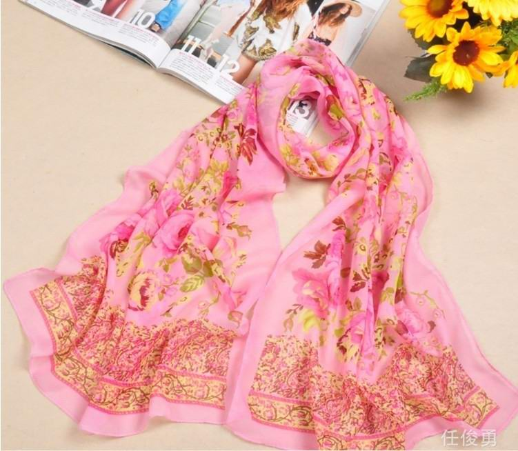 SEO_COMMON_KEYWORDS Sweden Flower Charming silk scarf wholesale for Summer