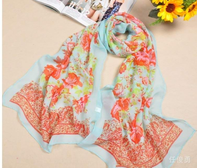 Sweden Flower Charming silk scarf wholesale for Summer