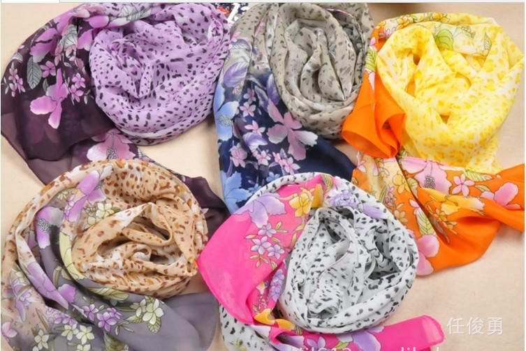 Discount silk scarves with floral printing canada
