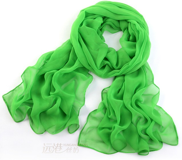 100 Plain Color Silk Scarves Wholesale