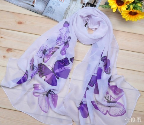 New Fashion Flower Style silk Scarf Wholesale UK