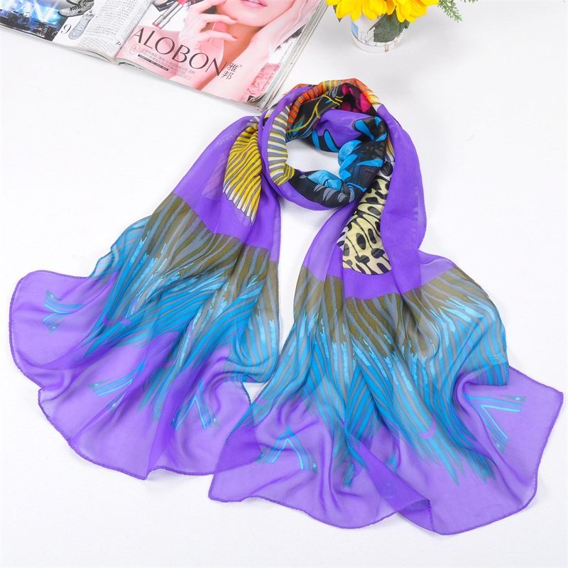 SEO_COMMON_KEYWORDS 001 Oversize Butterfly Pattern Silk Scarf On sale