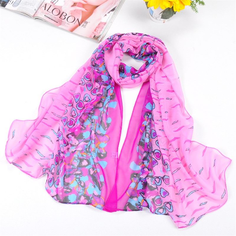 SEO_COMMON_KEYWORDS 001 Small heart print silk scarf hot selling