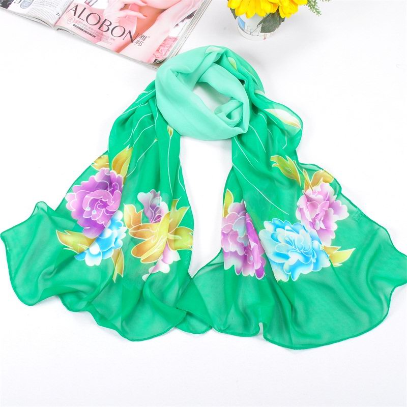 SEO_COMMON_KEYWORDS 001 New Silk Scarf With peony pattern