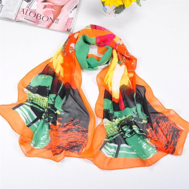 001 Print silk scarf hot selling