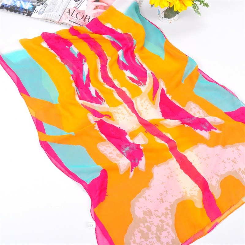 001 Chinese Colors Painting Design Scarf
