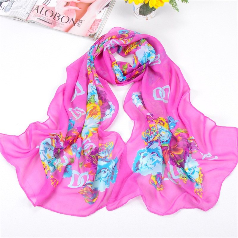 001 Small Peony Patterns Scarf