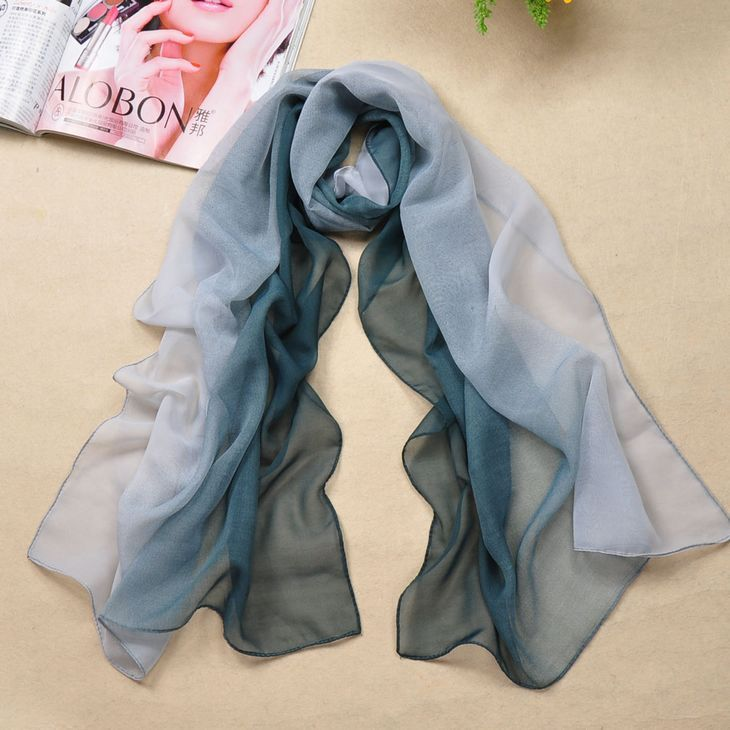 100 Colors Silk Like Scarves for wholesale
