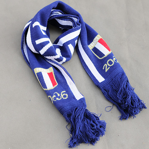 Cheap knit sports scarves with custom logo