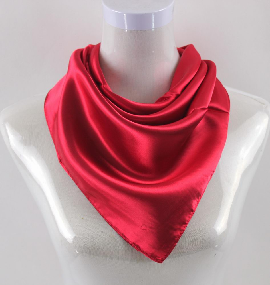 90*90CM Red Square Scarf