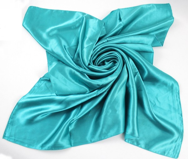 SEO_COMMON_KEYWORDS 90*90CM Turquoise Square Scarf