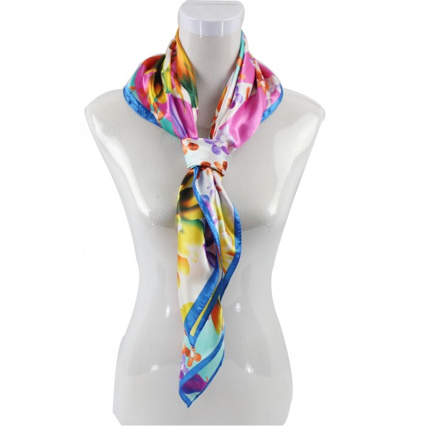 90*90CM Pretty Print Square Scarf Wholesale