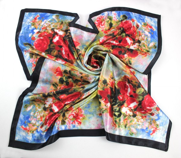 SEO_COMMON_KEYWORDS 90*90CM Polyester Square Scarf Wholesale