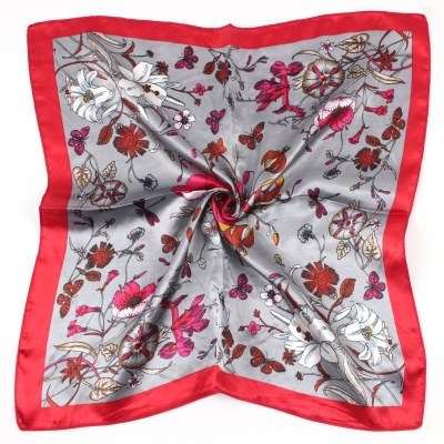 50*50CM RED Square Scarf 064