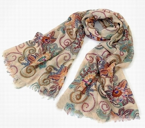New tuteng Cashew flower scarves UK
