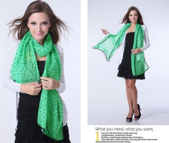 USA Wholesale Viscose Scarf With Dots Patters Colorful