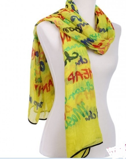 Fashion Viscose Scarf with cool words designs