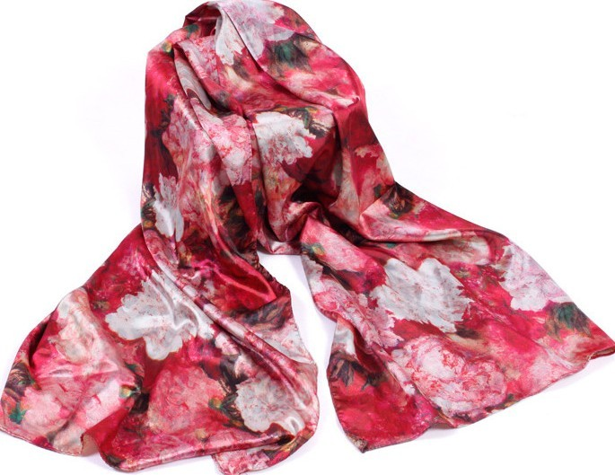 Flower Design Scarf for Women Asia