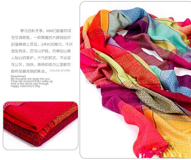 Check Style Cotton Scarf for sale