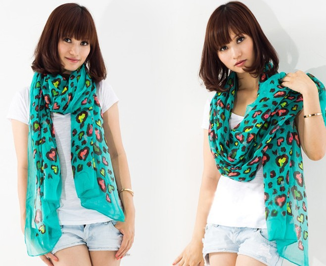 UK Viscose Scarf with colorful butterfly pattern