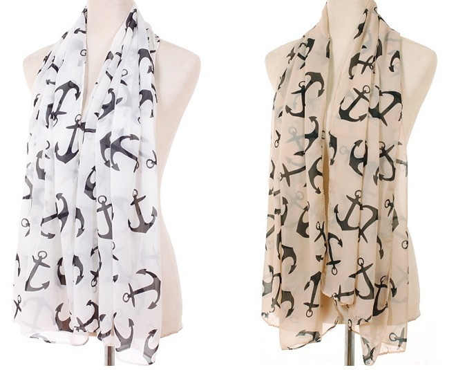 Anchor Print Scarf for women Germany