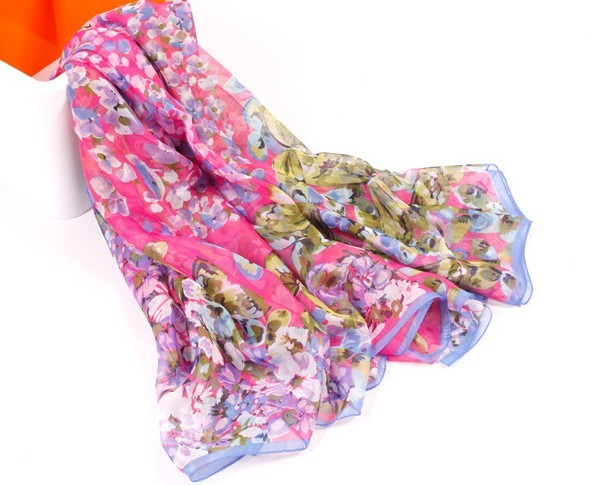 1 Countryside Pattern Cotton Scarf On Sale Asia